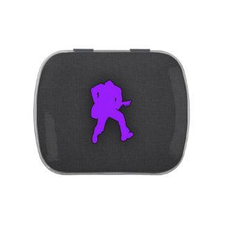 Guitarrista púrpura violeta jarrones de dulces