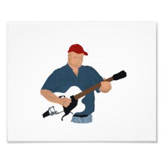 Guitarrista que pinta Sh azul semi hueco de Red Ha Fotografías