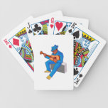 guitarrista que se sienta en los azules blue.png d baraja de cartas