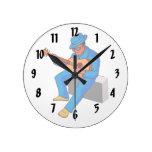 guitarrista que se sienta en los azules blue.png d reloj