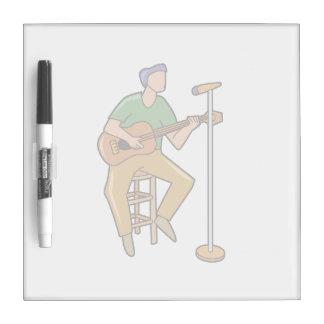 guitarrista que sienta mic.png abstracto pizarras blancas