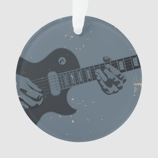 Guitarrista rústico azul y negro
