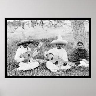 Guitarristas mexicanos 1904 posters