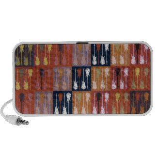 Guitars Abstract Collage iPhone Speaker