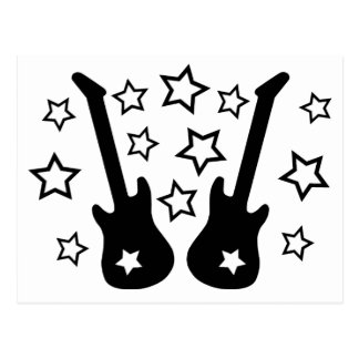Guitars and Stars Postcard