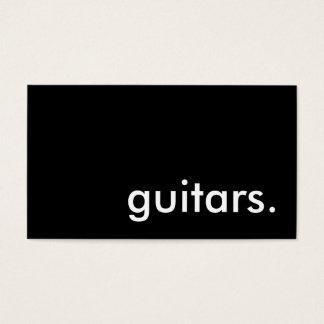 guitars. business card