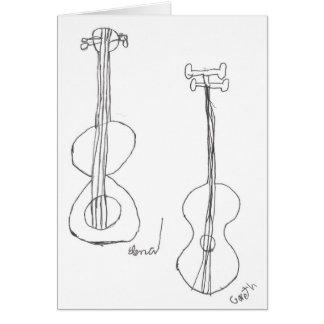 """Guitars"" Card"