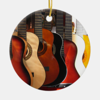 Guitars Ceramic Ornament