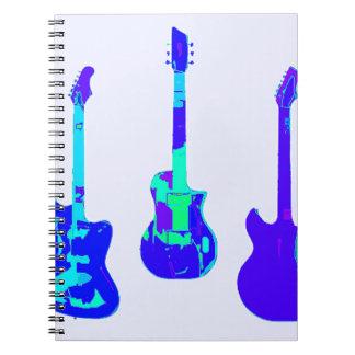 GUITARS GUITARS GUITARS SPIRAL NOTEBOOK