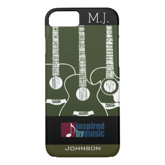 guitars music-inspired graphic iPhone 8/7 case