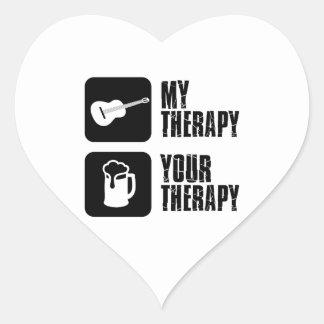 guitars my therapy sticker