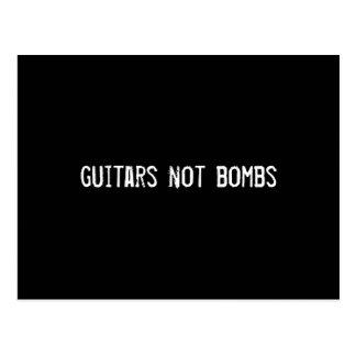 guitars not bombs postcard