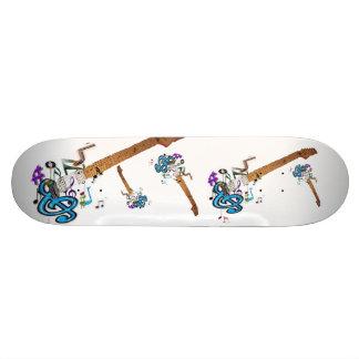 Guitars on a skateboard