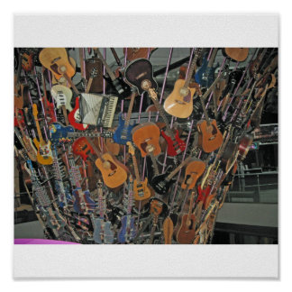 Guitars on a Tree Poster