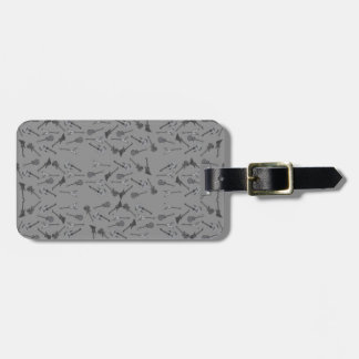 Guitars Pattern Bag Tag