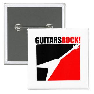 Guitars Rock! 2 Inch Square Button