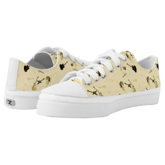 Guitars Rock Light yellow Low Top Shoes 2 Printed Shoes