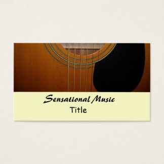 Guitars Sensational Music Business Card