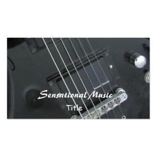 Guitars Sensational Music Business Cards