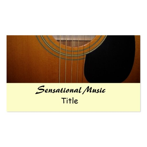 Guitars sensational music double sided standard business for Music business card template