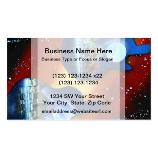 guitars sideways two spacepainting instrument Double-Sided standard business cards (Pack of 100)