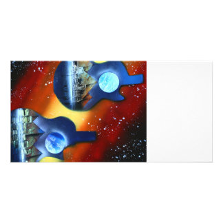 guitars sideways two spacepainting instrument photo cards