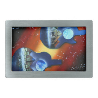 guitars sideways two spacepainting instrument rectangular belt buckle