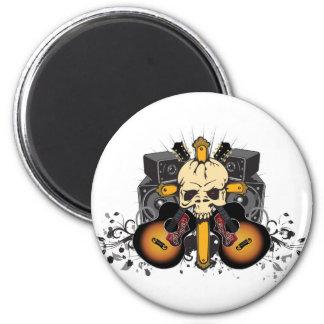 Guitars Speakers and Skull Magnet