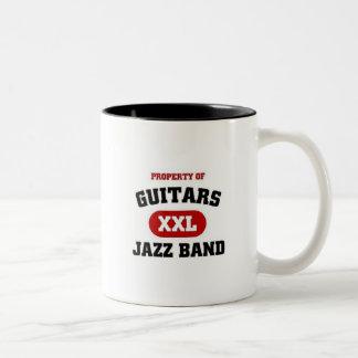 Guitars XXL Jazz band Two-Tone Coffee Mug