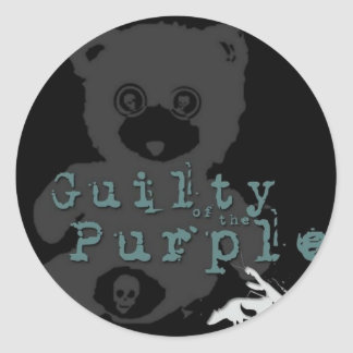 GUITLY OF THE PURPLE STICKER