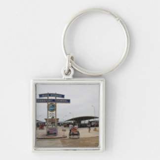 Guiuan bus terminal Silver-Colored square keychain