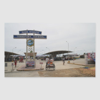 Guiuan bus terminal rectangle stickers