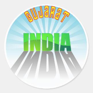 Gujarat Classic Round Sticker