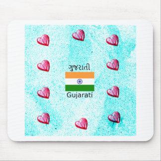 Gujarati (India) Language And Flag Design Mouse Pad