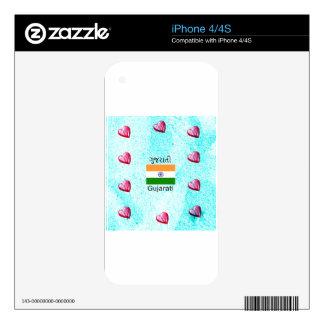 Gujarati (India) Language And Flag Design Skin For The iPhone 4S