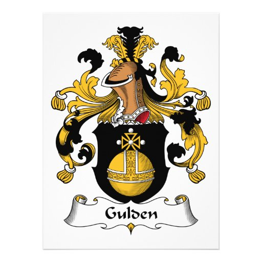 Gulden Family Crest Announcements