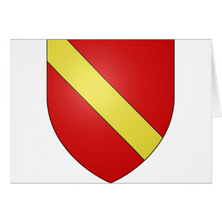 Gules a bend or, Netherlands Greeting Card