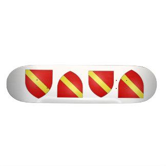 Gules a bend or, Netherlands Skateboards