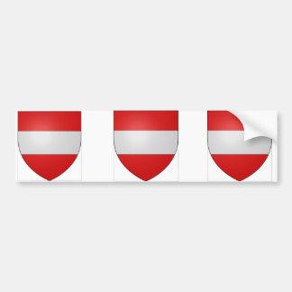 Gules a fess argent, Belgium Car Bumper Sticker