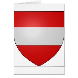 Gules a fess argent, Belgium Greeting Card