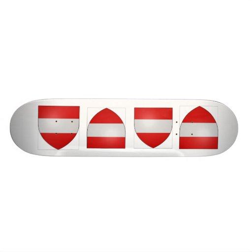 Gules a fess argent, Belgium Skateboard Deck