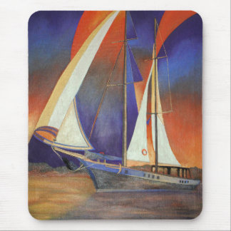 Gulet Under Sail Mouse Pad