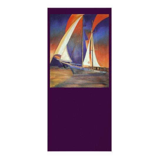 Gulet Under Sail Rack Card
