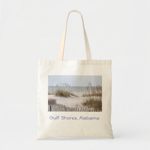 Gulf coast beaches Alabama travel tote Canvas Bags