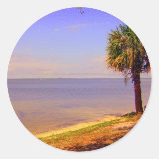 Gulf coast decor Destin Florida Classic Round Sticker