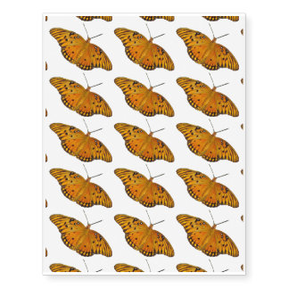 Gulf Coast Fritillary Butterfly Temporary Tattoos