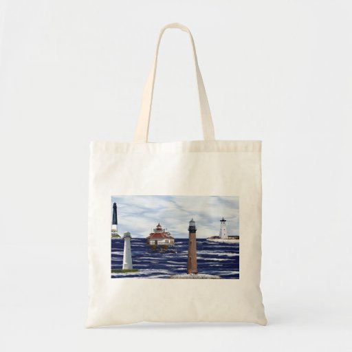 Gulf Coast lighthouses Tote Bags