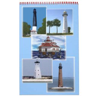 Gulf Coast lighthouses Calendar