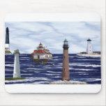 Gulf Coast lighthouses Mousepads