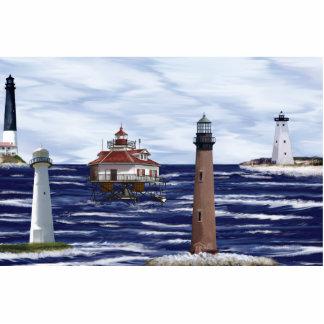 Gulf Coast lighthouses Cut Out